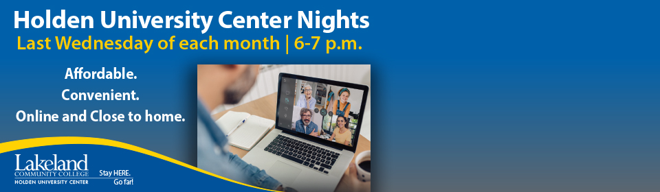 VIRTUAL HOLDEN UNIVERSITY CENTER NIGHTS