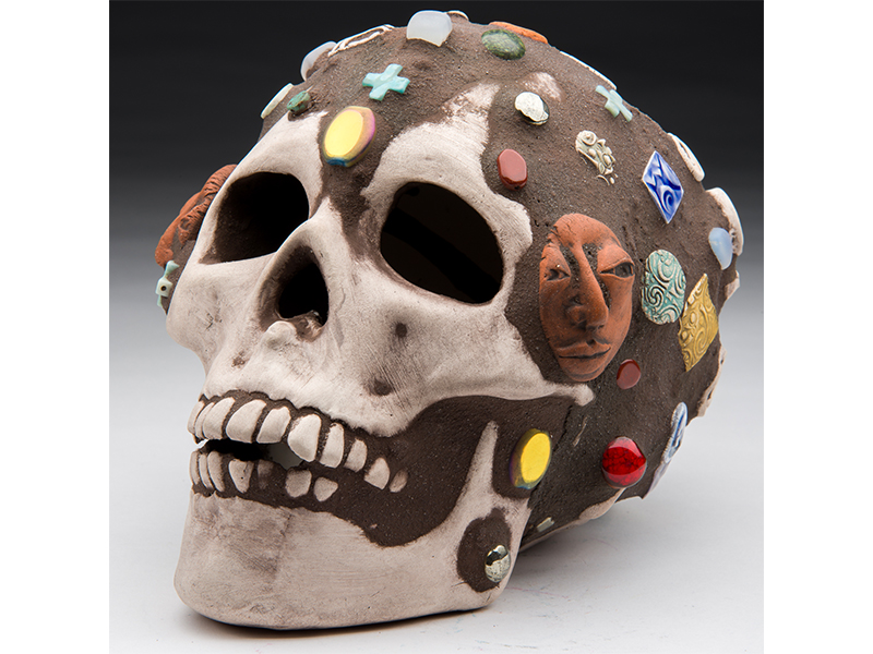 skull art auction
